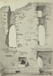 Bamburgh Castle, kitchen ruins f.179